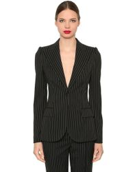 Dolce & Gabbana - Pinstriped Stretch Cool Wool Blazer - Lyst