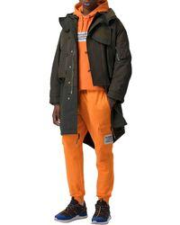 Burberry Pantalon Cargo En Coton Avec Patch Logo - Orange