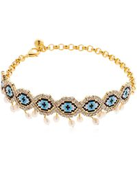 Shourouk | Eye Beaded Choker W/ Pearls | Lyst