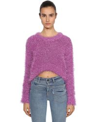 """Filles A Papa - """"Maglia Cropped """"""""tinsel"""""""""""" - Lyst"""