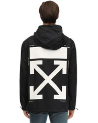 Off-White c/o Virgil Abloh Packable Printed Techno Rain Anorak