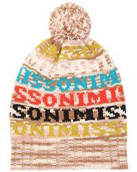 e0abb56786e Missoni - Logo Wool Blend Knit Beanie Hat - Lyst