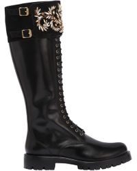 Rene Caovilla - Lvr Edition 30mm Swarovski Leather Boots - Lyst