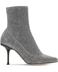Sergio Rossi - 105mm Sr Milano Lurex Sock Boots - Lyst