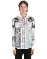 Etro - Bandana Print Fluid Cotton Muslin Shirt - Lyst