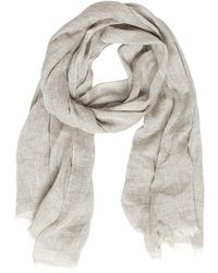 Destin Surl - Linen, Silk & Cashmere Woven Scarf - Lyst
