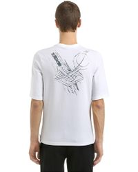 Reebok - Slim Fit Printed French Terry T-shirt - Lyst