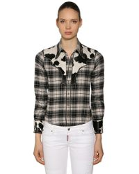 DSquared² - Rodeo Cotton Plaid Shirt - Lyst