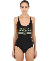 Gucci - Costume Intero In Lycra - Lyst
