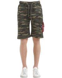 Alpha Industries - X-fit Cargo Camo Cotton Terry Shorts - Lyst