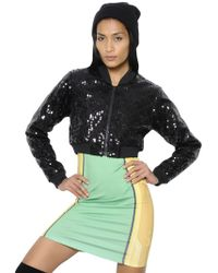 Jeremy Scott for adidas - Bomber Con Paillettes - Lyst