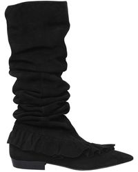 JW Anderson - 10mm Ruffle Suede Boots - Lyst