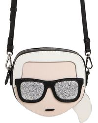 Karl Lagerfeld   K/ikonik Karl Face Crossbody Bag   Lyst