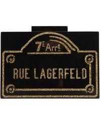 Karl Lagerfeld - Rue Lagerfeld Pvc Box Clutch - Lyst