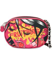 Moschino - Eyes Faux Leather Shoulder Bag - Lyst