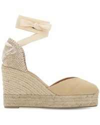 Castaner 80mm Chiara Canvas Espadrille Wedges