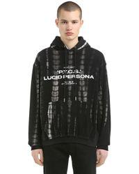 HELIOT EMIL - Lsd Tie Dye Hooded Cotton Sweatshirt - Lyst