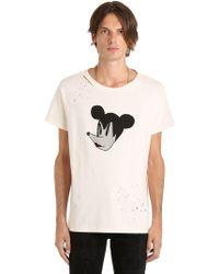 Garçons Infideles - Mickey Distressed Jersey T-shirt - Lyst