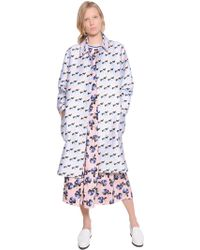 Mother Of Pearl   Floral Printed Cotton & Silk Coat   Lyst