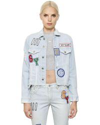 Steve J & Yoni P - Patches Cotton Denim Jacket - Lyst