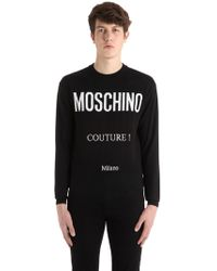 Moschino - Couture! Wool Knit Jacquard Jumper - Lyst