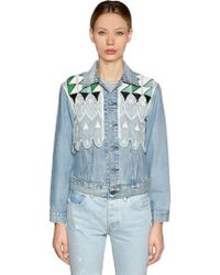 Levi's - Embroidered Denim Trucker Jacket - Lyst