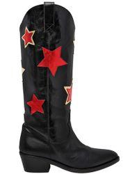 Chiara Ferragni | 50mm Stars Leather Boots | Lyst