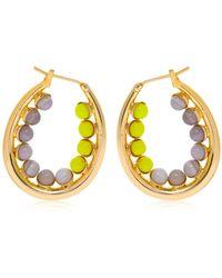 Anton Heunis | Color Block Oval Hoop Earrings | Lyst