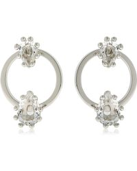 DSquared² - Jeweled Hoop Earrings - Lyst
