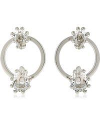 DSquared² | Jeweled Hoop Earrings | Lyst