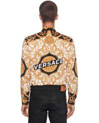 "Versace - ""Camicia """"heritage Hibiscus"""" In Popeline"" - Lyst"