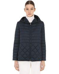 Max Mara - Quilted Nylon Down Jacket W/ Hood - Lyst