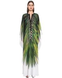 Elie Saab - Printed Crepe Georgette Caftan Dress - Lyst