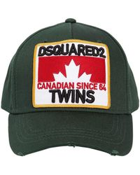 DSquared² - Cappello Baseball In Tela Di Cotone - Lyst