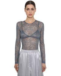 Nina Ricci - Lace Stretch Sheer Bodysuit - Lyst