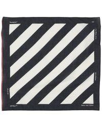 Off-White c/o Virgil Abloh - Diagonal Stripe Cotton Blend Bandana - Lyst