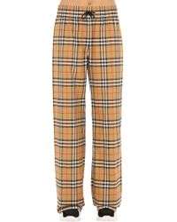 Burberry - Whynham Check Wide-leg Trousers - Lyst