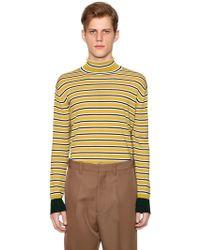 Marni - Sweater Aus Wollstrick Mit Streifen - Lyst