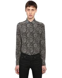 Saint Laurent - Yves Bandana Printed Silk Shirt - Lyst