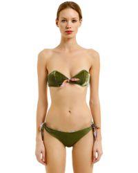 Albertine - Brigitte Velvet & Lycra Bikini - Lyst