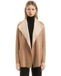 Agnona - Cashmere Jersey Light Coat - Lyst