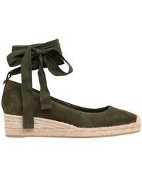 Tory Burch - 40mm Heather Suede Lace-up Espadrilles - Lyst
