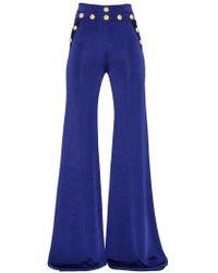 Balmain - High Waisted Flared Pants - Lyst