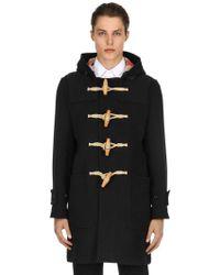Burberry - Hooded Wool Cloth Duffle Coat - Lyst