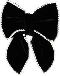 ANOUKI December Silk & Rayon Hair Bow - Black