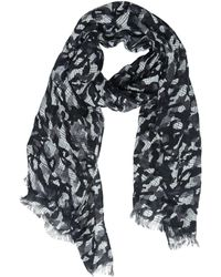 Destin Surl - Camo Printed Woven Linen Scarf - Lyst