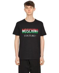Moschino - Camiseta De Jersey De Algodón - Lyst