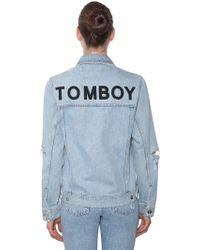 Filles A Papa - Tomboy Cotton Denim Jacket - Lyst