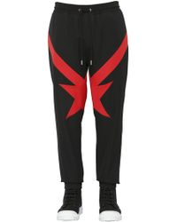 Givenchy - Intarsia Wool Grain De Poudre Joggers - Lyst