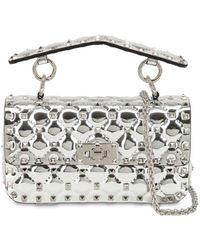 Valentino - Small Spike Metallic Leather Bag - Lyst